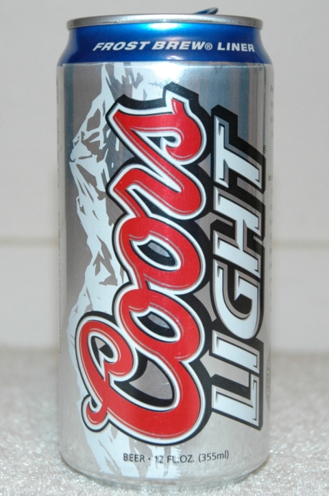 Coors Light Can with a Frost Brew (registered) Liner